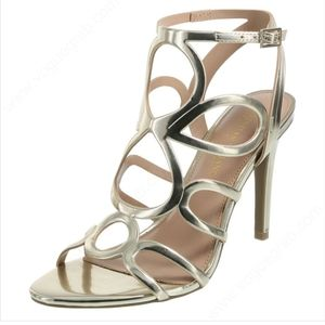 Christian Siriano Gold Strappy Heels